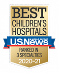U.S. News & World Report Best Children's Hospitals Badge